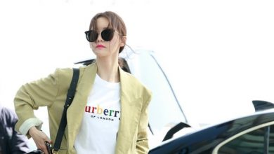 Photo of SNSD Yoona spring fashion jeans, white t-shirt cotton finish